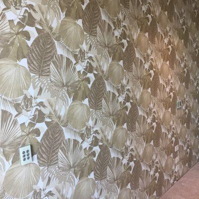 Gold leaf paper with hidden door