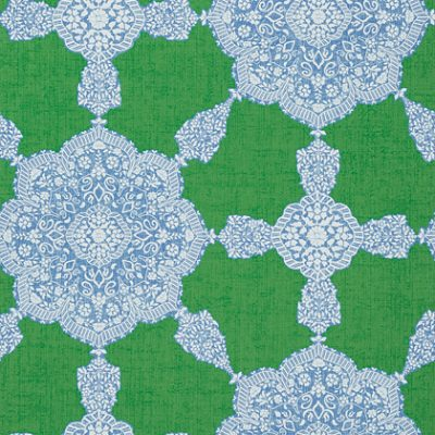 $248 per roll T88730-Medallion Paisley - Blue and Green